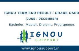 Ignou Result Grade Card