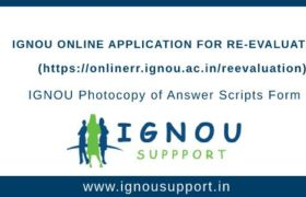 IGNOU Revaluation Application Form