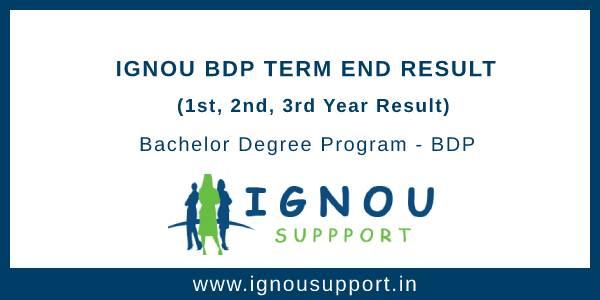 Ignou BDP Term End Result
