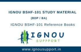Ignou BSHF-101 Study Material