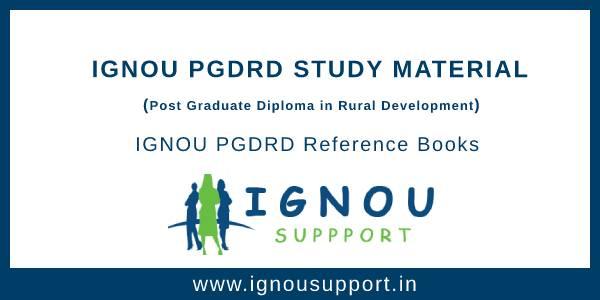IGNOU PGDRD Study Material