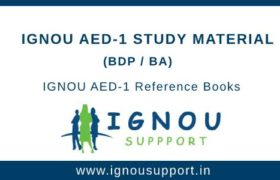 Ignou AED-1 Study Material