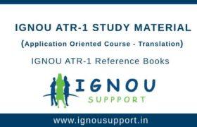 Ignou ATR-1 Study Material