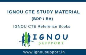 IGNOU CTE Study Material