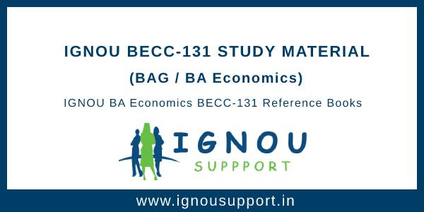 Ignou BECC-131 Study Material
