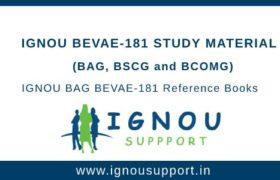 IGNOU BEVAE-181 Study Material