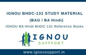 IGNOU BHDC-131 Study Material