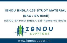 IGNOU BHDLA-135 Study Material