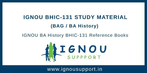 IGNOU BHIC-131 Study Material