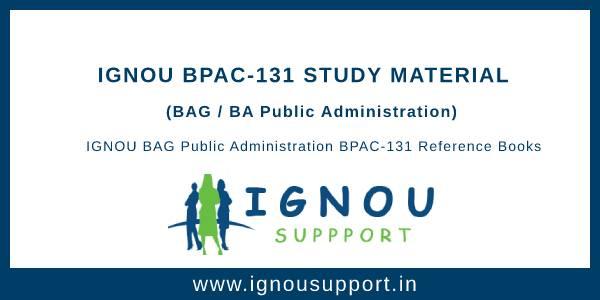 IGNOU BPAC-131 Study Material