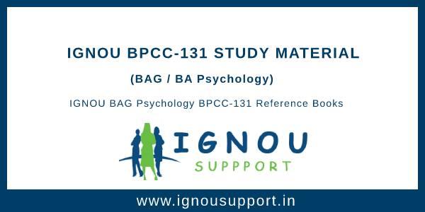Ignou BPCC-131 Study Material