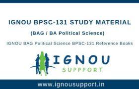 Ignou BPSC-131 Study Material