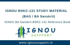 IGNOU BSKC-131 Study Material