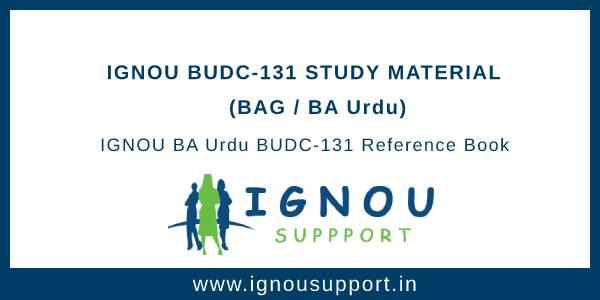 IGNOU BUDC-131 Study Material