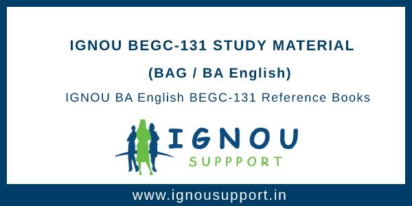 IGNOU BEGC-131 Study Material