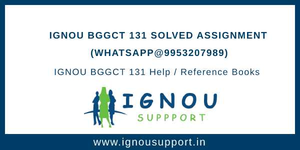 IGNOU BGGCT 131 Solved Assignment