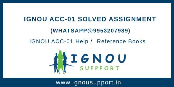 IGNOU ACC-1 Solved Assignment