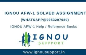 IGNOU AFW-1 Solved Assignment