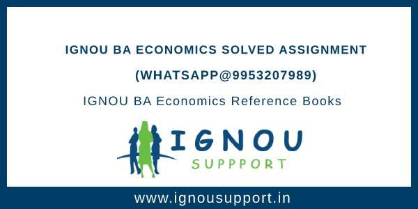 IGNOU BA Economics Solved Assignment