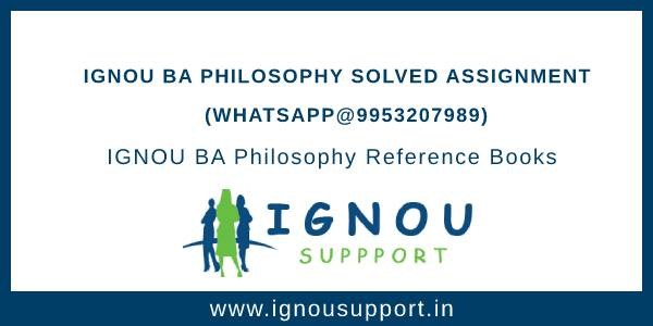 IGNOU BA Philosophy Solved Assignment