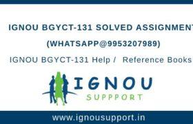 IGNOU BGYCT-131 Assignment