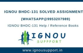 IGNOU BHDC-131 Solved Assignment