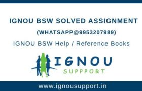 IGNOU BSW Solved Assignment