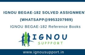 IGNOU BEGAE-182 Assignment