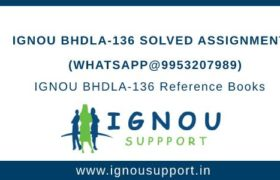 IGNOU BHDLA-136 Assignment
