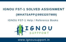 IGNOU FST-1 Solved Assignment