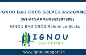 IGNOU BAG CBCS Solved Assignment