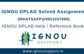 IGNOU DPLAD Solved Assignment