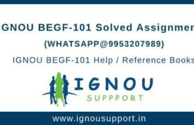 IGNOU BEGF101 Assignment