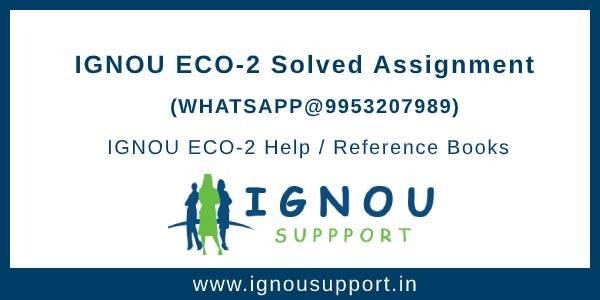 IGNOU ECO-2 assignment