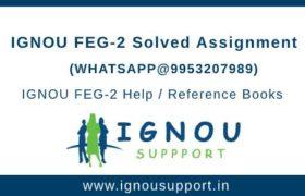 IGNOU FEG2 Assignment
